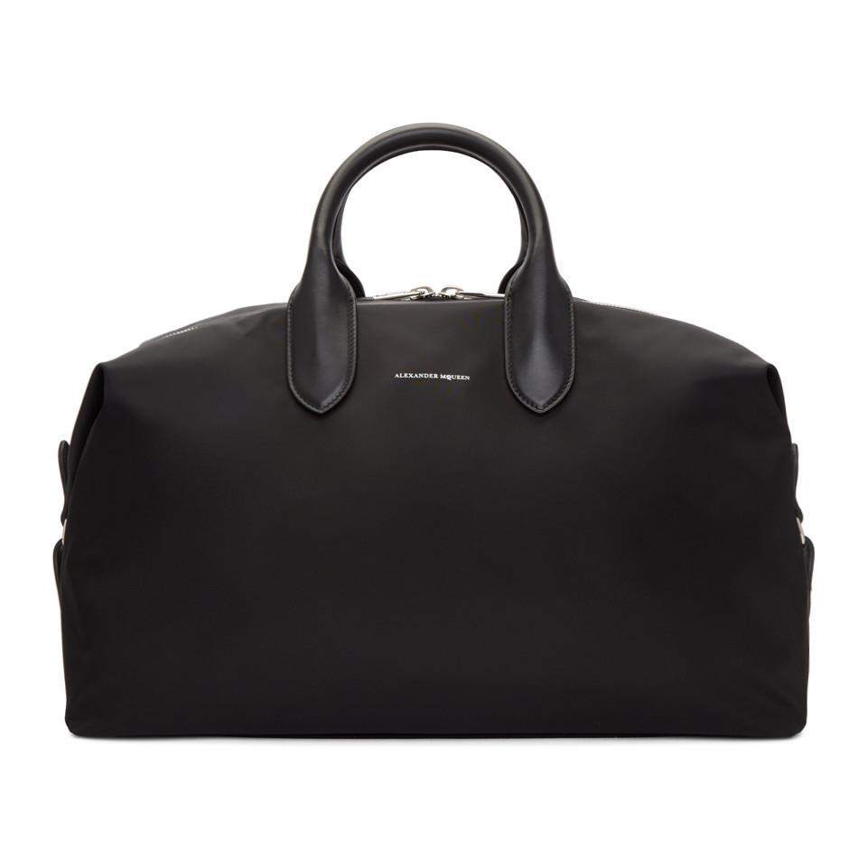 Alexander McQueen Alexander Mcqueen Leather Top Handle Carryall Duffle Weekend Travel Tote Bag kHGxfQ