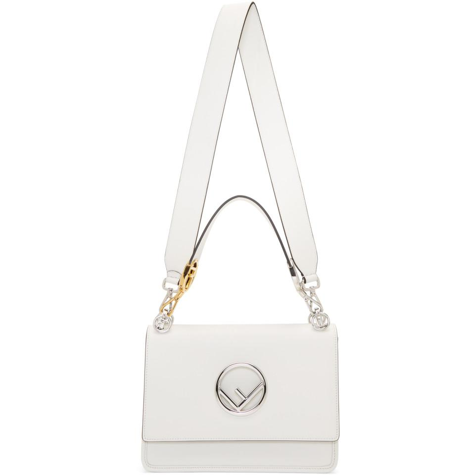Fendi - White Large Forever Kan I Bag - Lyst. View fullscreen 55f20ae3d6d0f