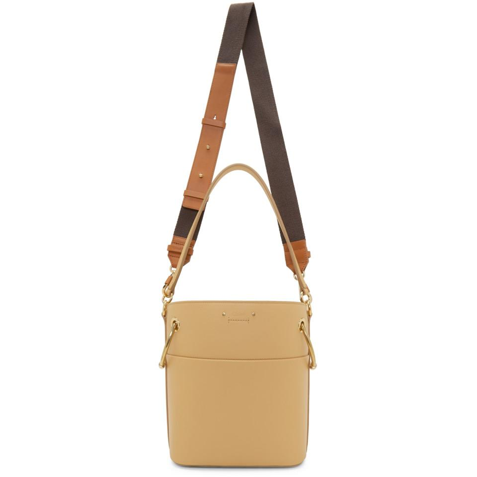 27aaf06d4772d Lyst - Chloé Beige Small Roy Bucket Bag in Natural