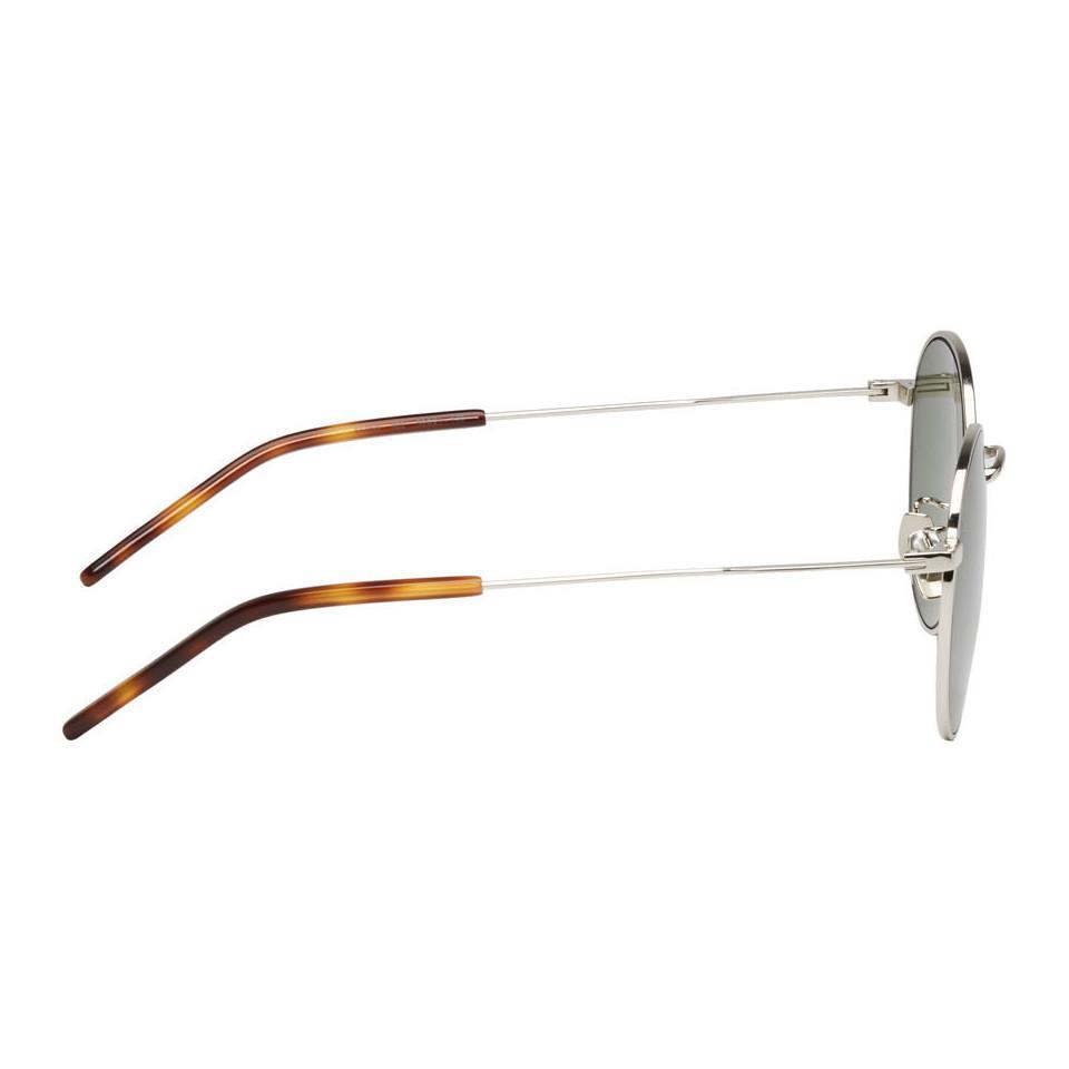 4633b0b2bc1 Saint Laurent - Metallic Silver Classic Sl 250 Sunglasses for Men - Lyst.  View fullscreen