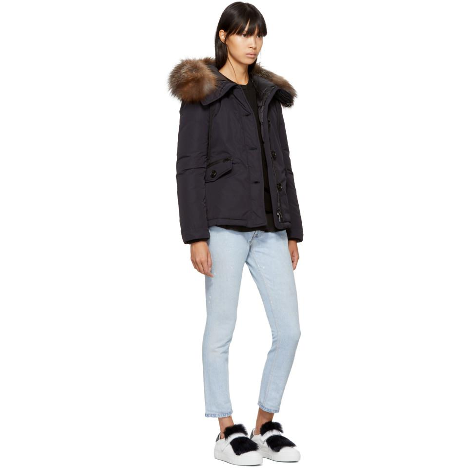 a5ee72b97 Moncler Navy Down Malus Jacket in Blue - Lyst