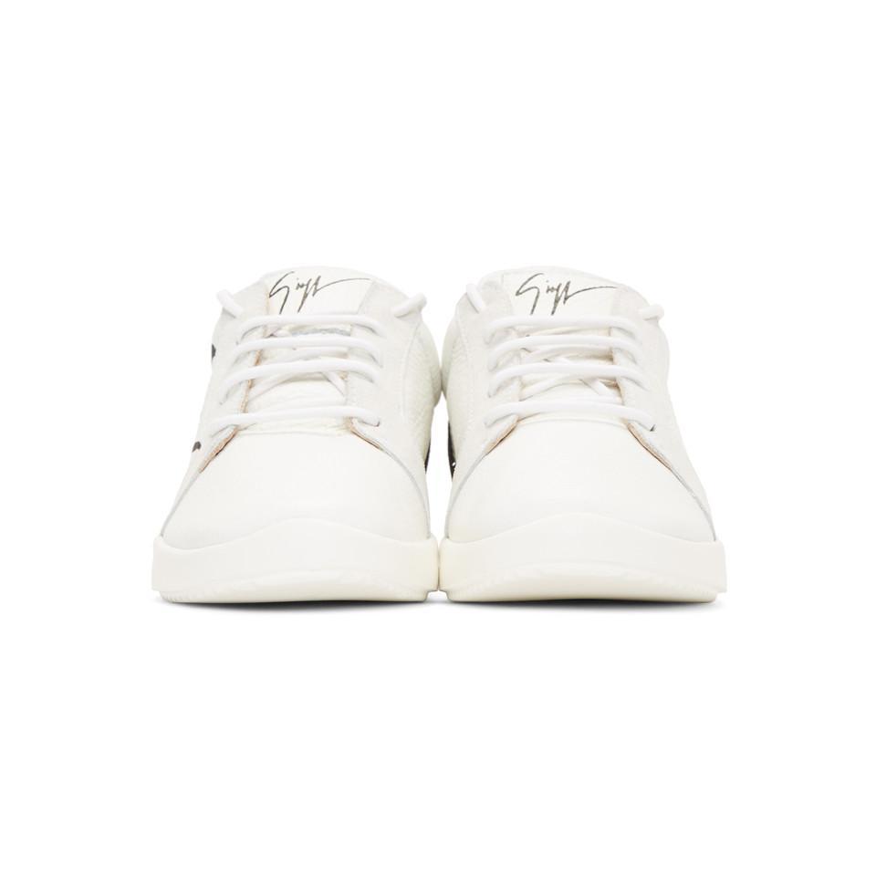 Coloris Zanotti Signature Blanc Giuseppe Lyst Baskets En Blanches YvPxqgpH 23053661ae31