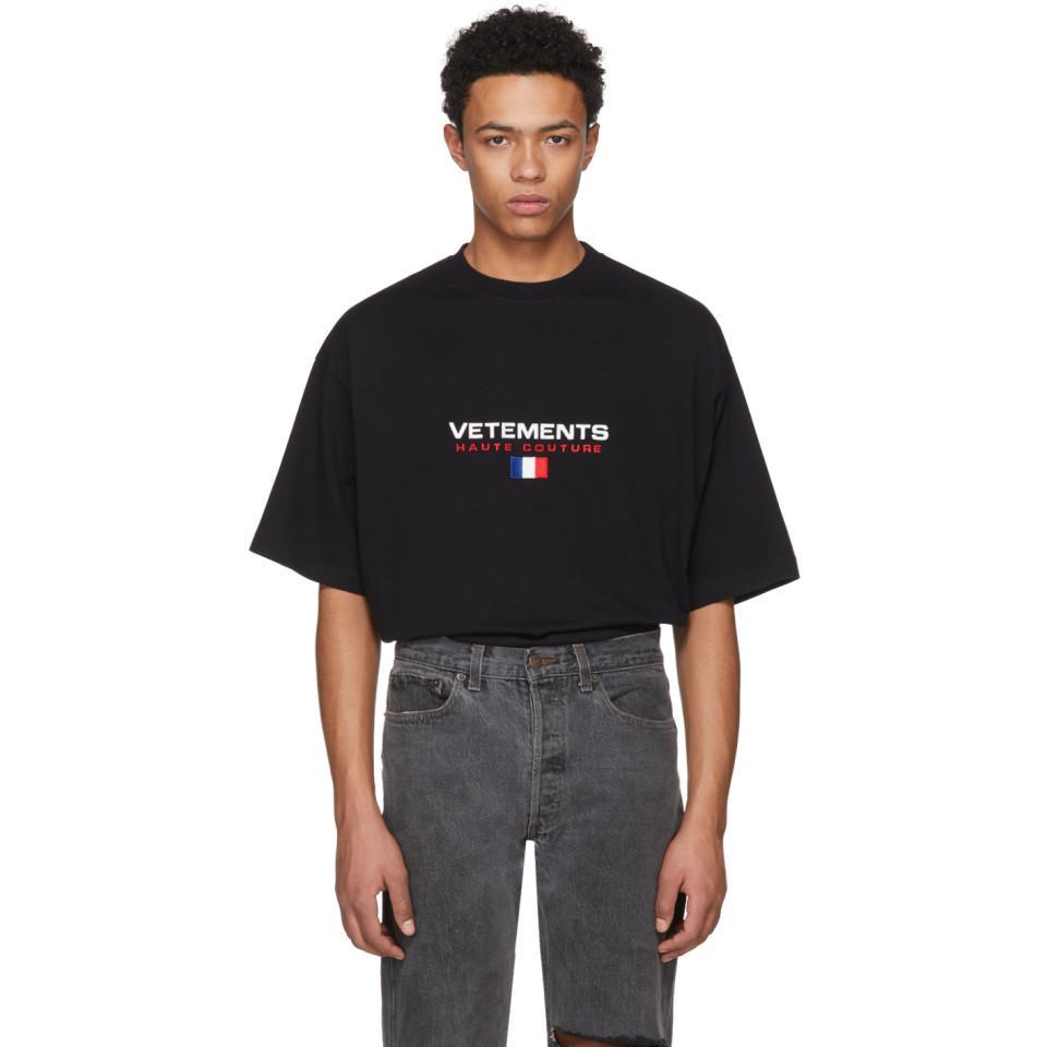 T-shirt noir Haute Couture Logo