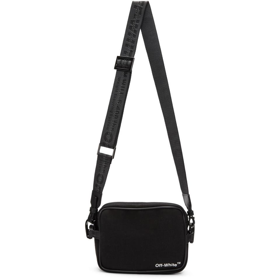 547fb548dbb1 Lyst - Off-White c o Virgil Abloh Black Logo Camera Bag in Black