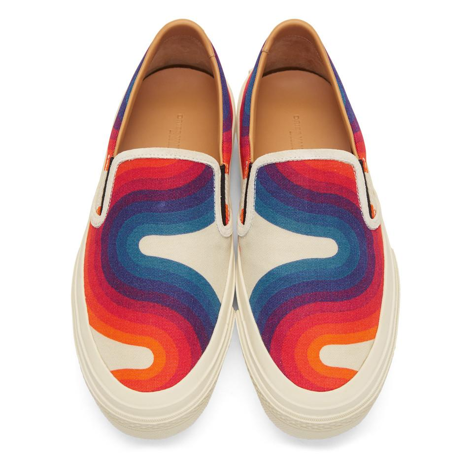 3cd1b209ab4e4a Dries Van Noten - Multicolor Off-white Verner Panton Edition Canvas Sneakers  for Men -. View fullscreen