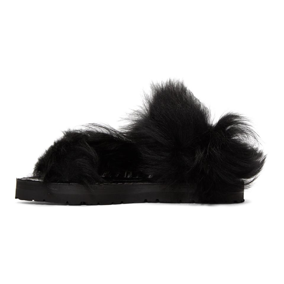 SACAI Lamb Fur Sandals xWegWNbtW2