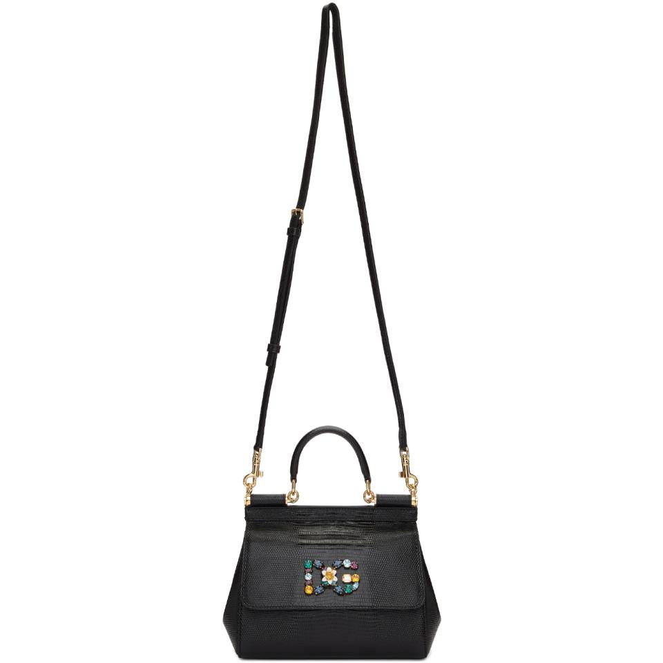 35e96bc94131 Dolce   Gabbana - Black Iguana Small Miss Sicily Bag - Lyst. View fullscreen