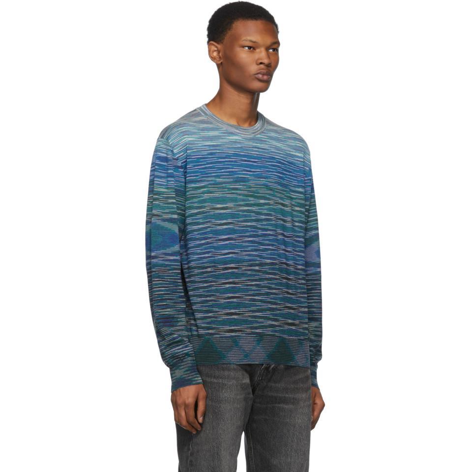 9976ab5437d8b Missoni - Blue Wool Sweater for Men - Lyst. View fullscreen