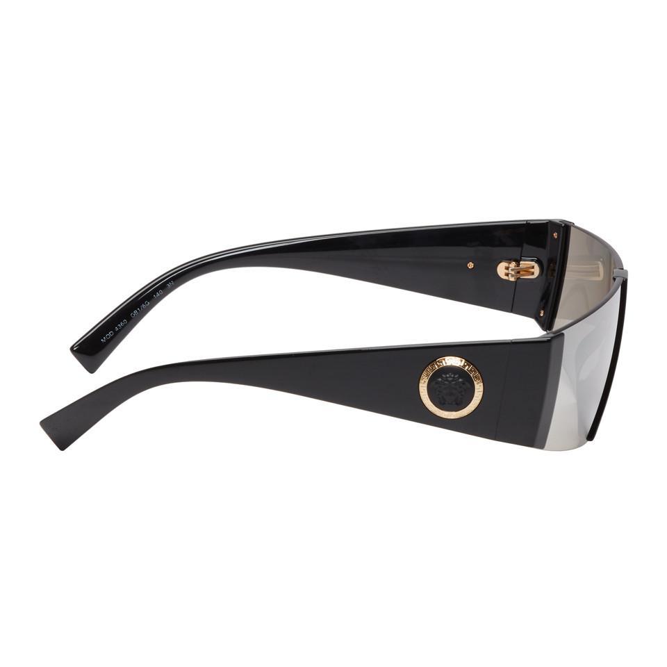 2b9722bafaac Versace - Black Medusa Ares Visor Sunglasses for Men - Lyst. View fullscreen