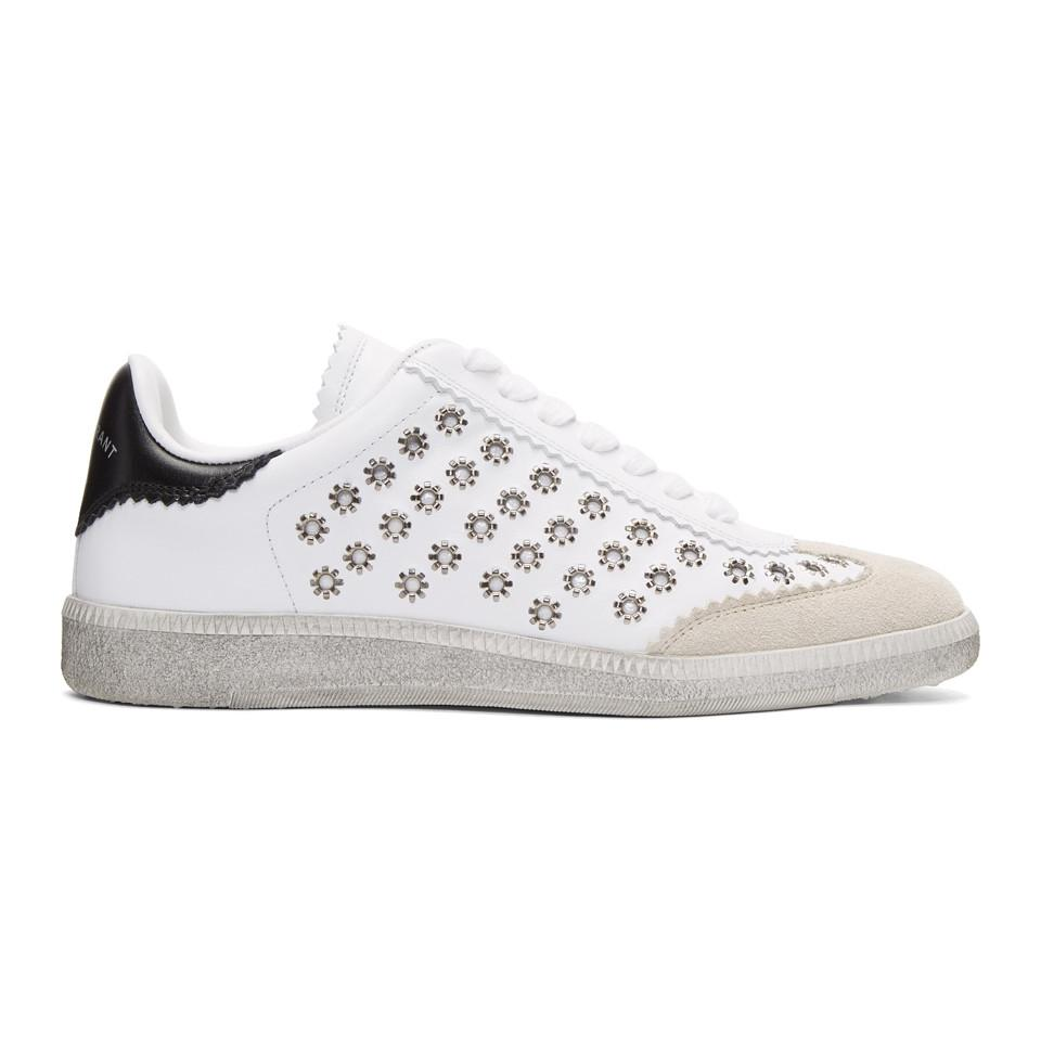 Isabel Marant Bryce Eyelet Studded Sneakers Low Cost Explore Online Cheap Fake R1Xx3F