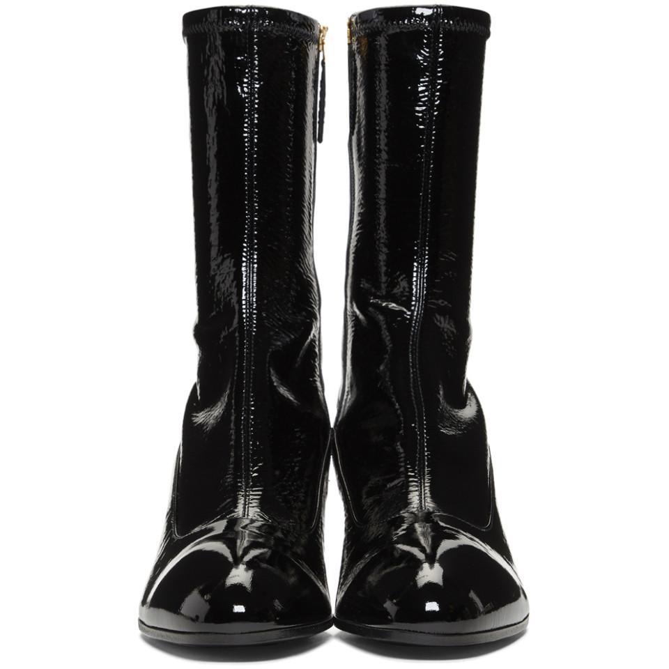 dc9b97bfb2871 Gucci - Black Patent Printyl Boots for Men - Lyst. View fullscreen