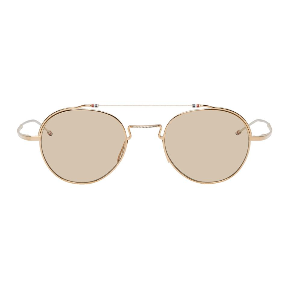 98c7c66207f5 Thom Browne Gold And Silver Tbs912 Sunglasses in Metallic for Men ...