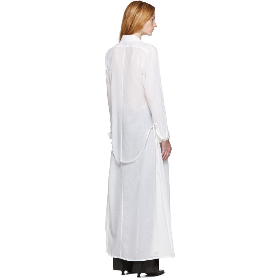 Chemise blanc casse Tiriel Coton Ann Demeulemeester en coloris Blanc