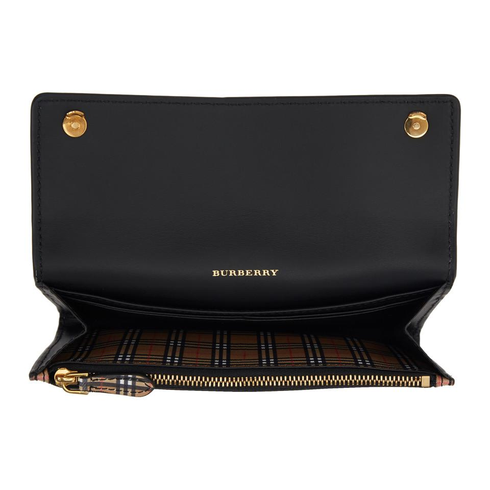 f9b15887e511 Burberry - Yellow Black And Beige Small Scale Check Harris Wallet - Lyst.  View fullscreen