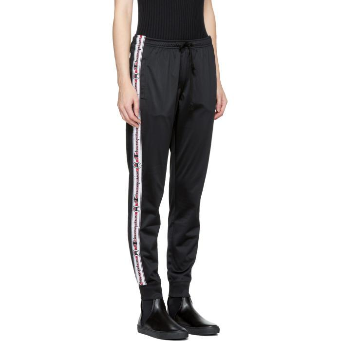 innovative design new list 100% satisfaction Champion Ssense Exclusive Black Tapered Logo Track Pants