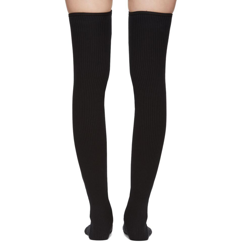 ca1ec6e3da7d8 Sacai Ssense Exclusive Navy Velvet Thigh-high Socks in Blue - Lyst