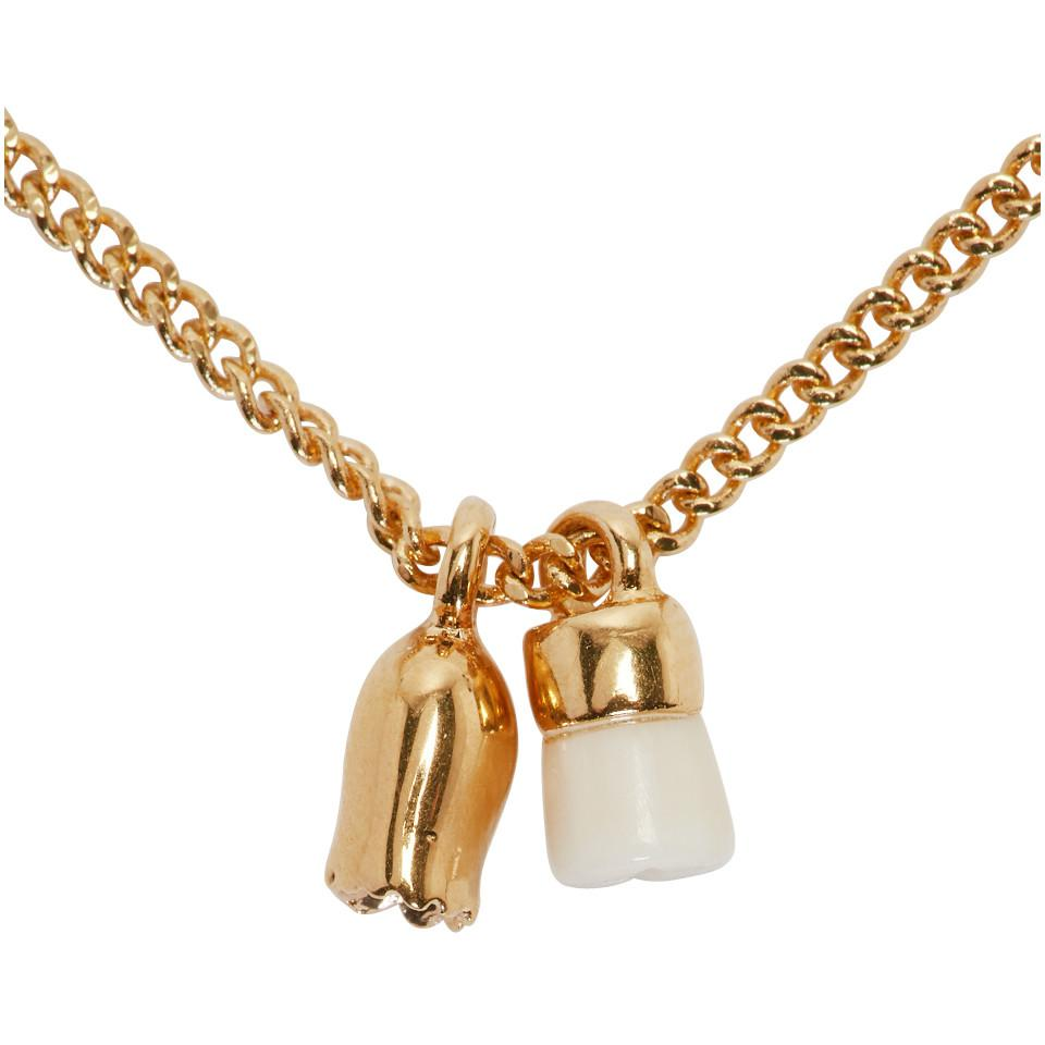 Isabel Marant Gold And Ecru New All Right Necklace in Metallic