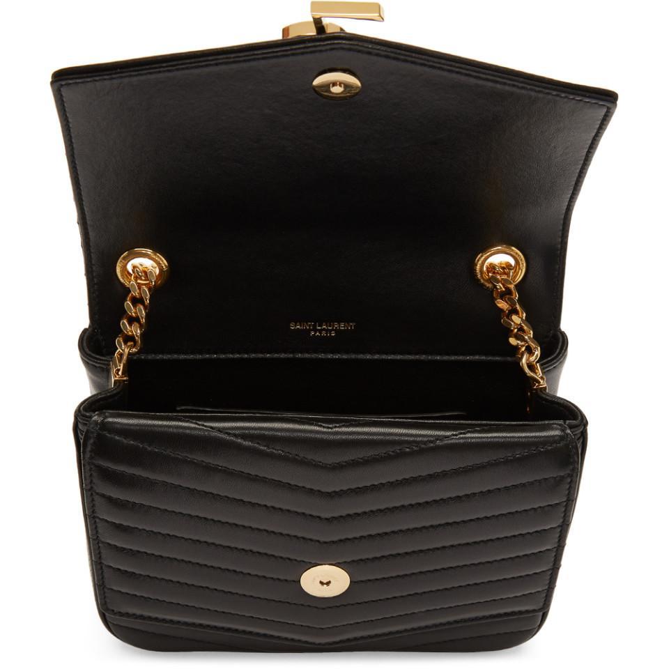 Lyst - Saint Laurent Black Medium Montaigne Monogramme Chain Bag in ... dacf0f8952af7