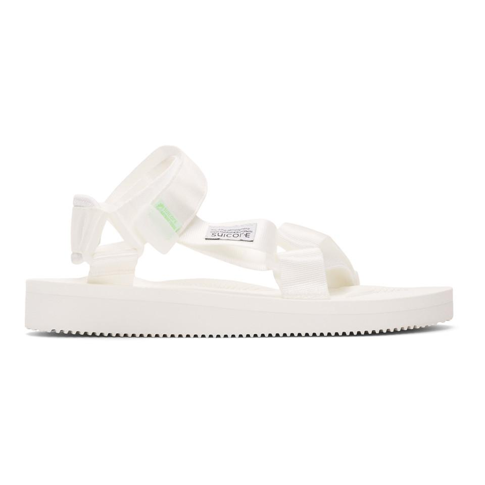8437c91330eb Lyst - Suicoke White Depa-cab Sandals in White for Men