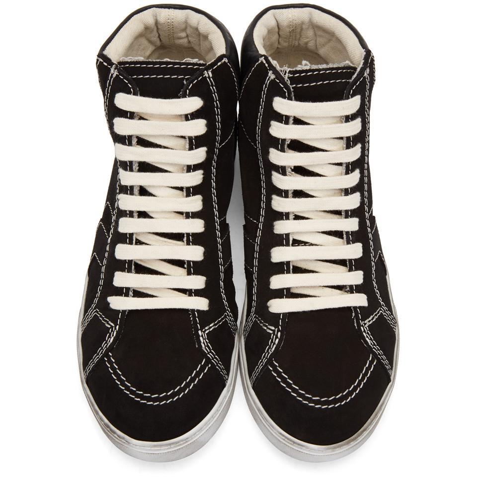 uk availability be1d4 91707 saint-laurent-black-Black-Suede-Antibes-High-top-Sneakers.jpeg