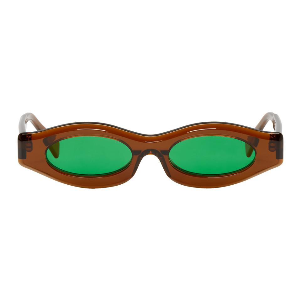 a121016d611 Kuboraum Brown Y5 Cop Sunglasses in Green for Men - Lyst