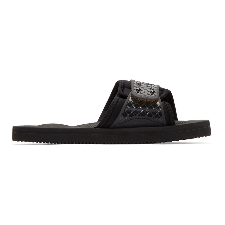83bf3d156eba Suicoke Black Siv Sandals in Black for Men - Lyst