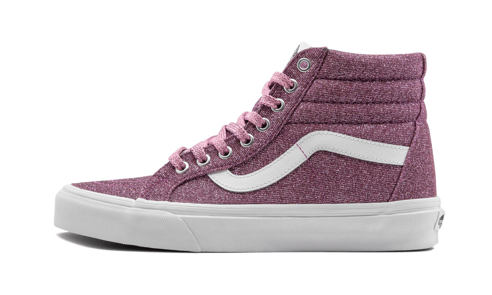 8cae96f137 Lyst - Vans Sk8-hi Reissue (lurex Glitter) in Pink