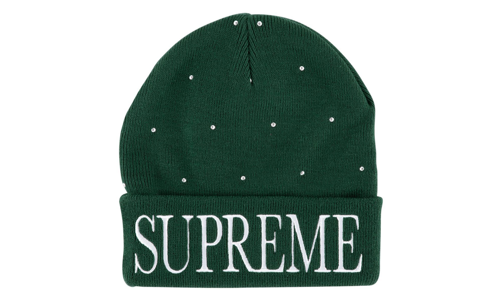 Supreme - Green Studded Beanie - Lyst. View fullscreen 5cd264c199