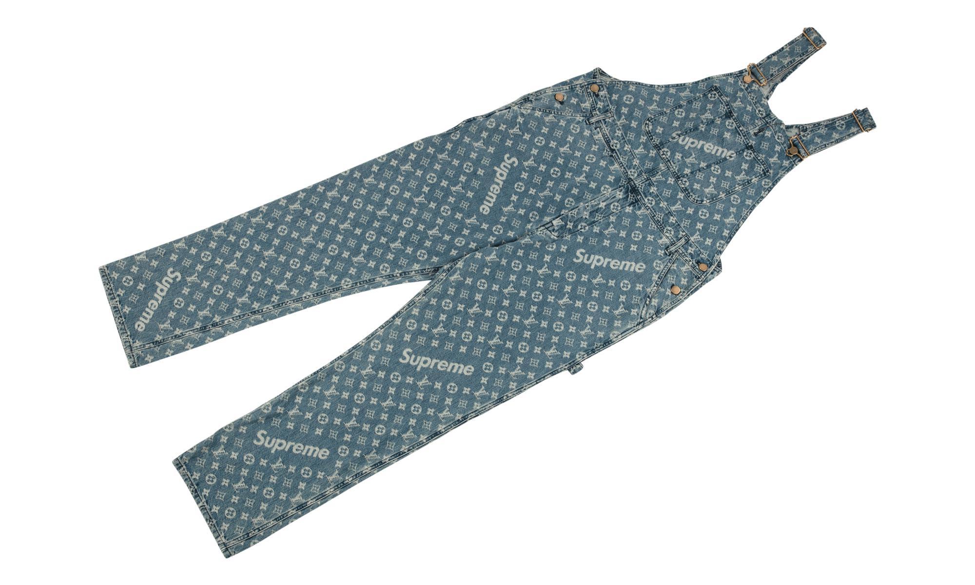 a75b3120b67 Louis Vuitton Jacquard Denim Overalls in Blue - Lyst