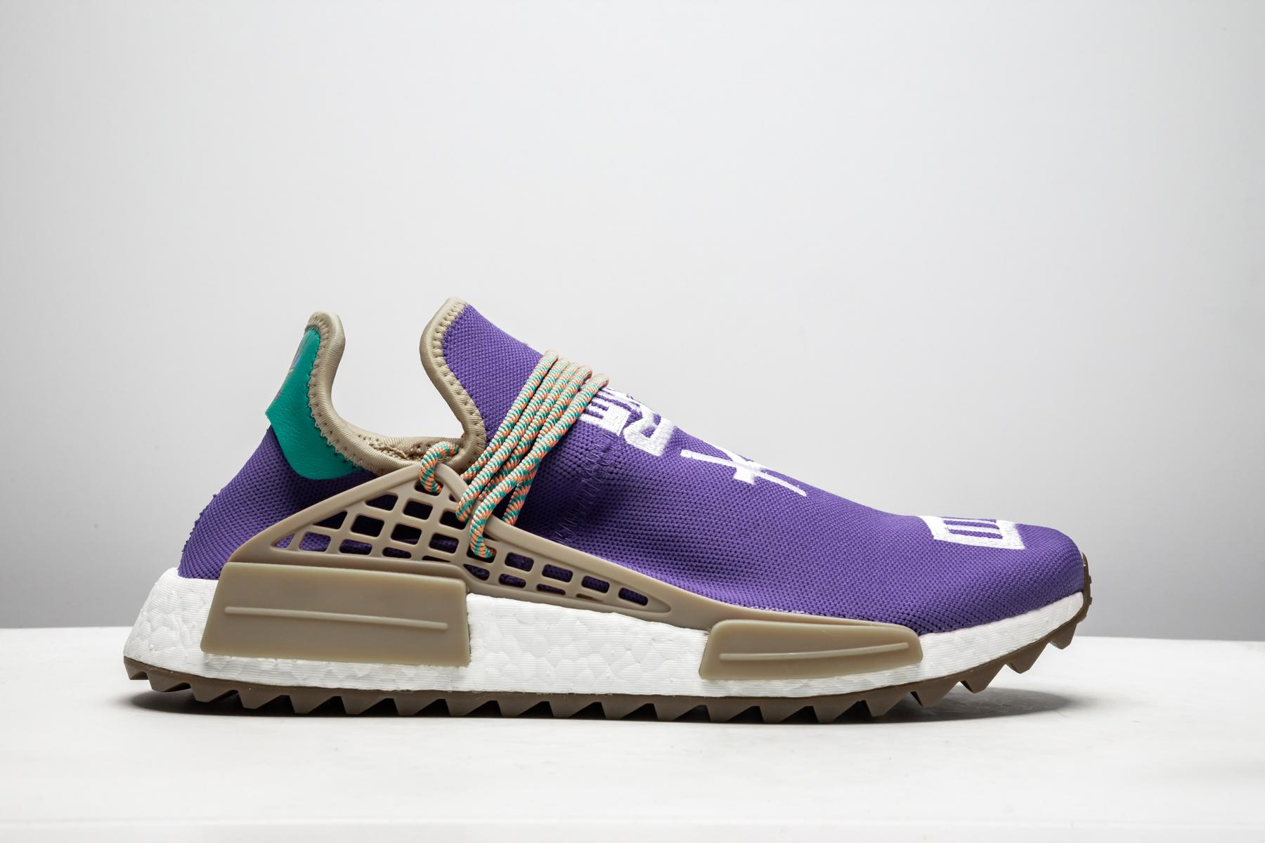 watch 042a9 01af2 Men's Purple Pw Human Race Nmd Tr 'respira Friends & Family 2017' - Size 4