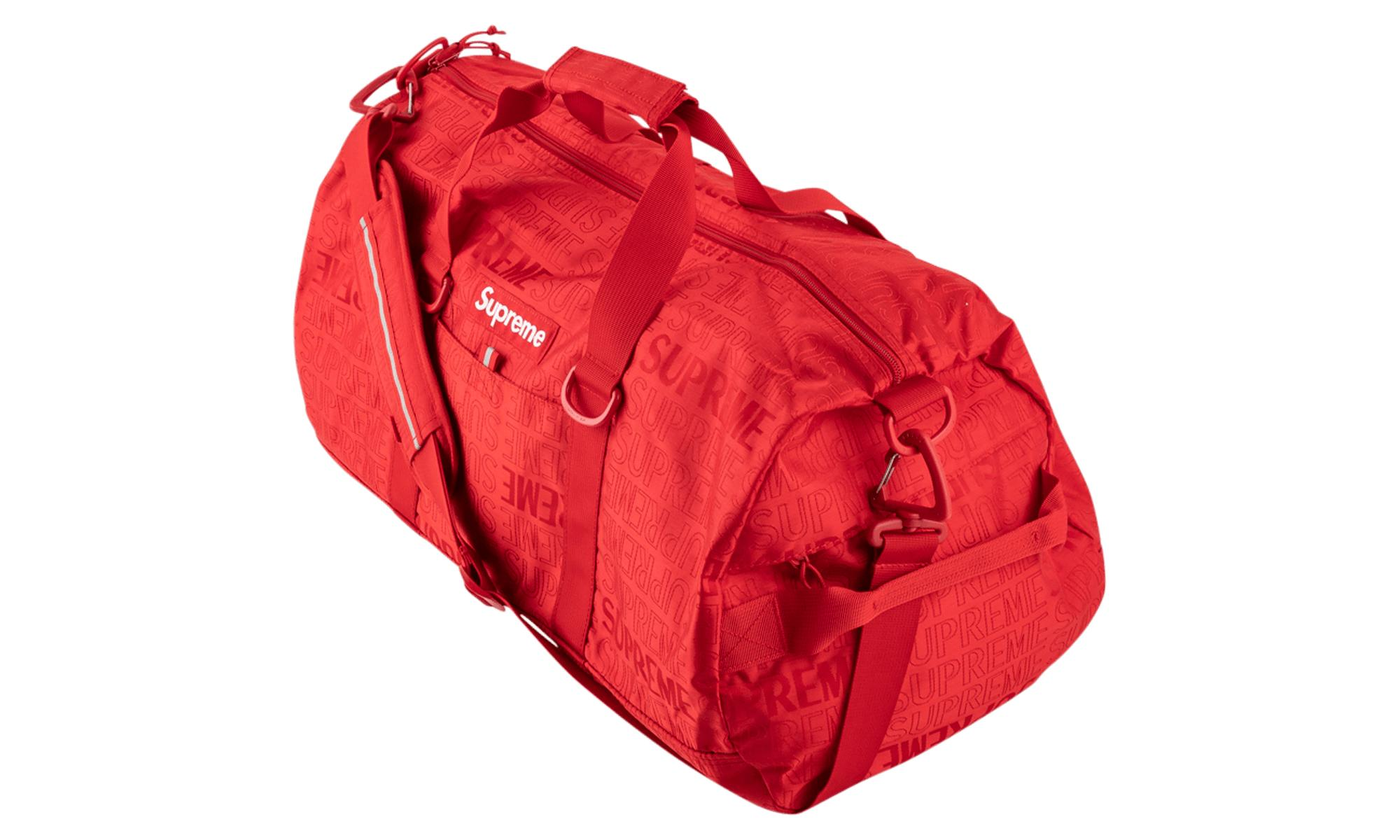 d4087754d802 Supreme - Red Duffle Bag for Men - Lyst. View fullscreen