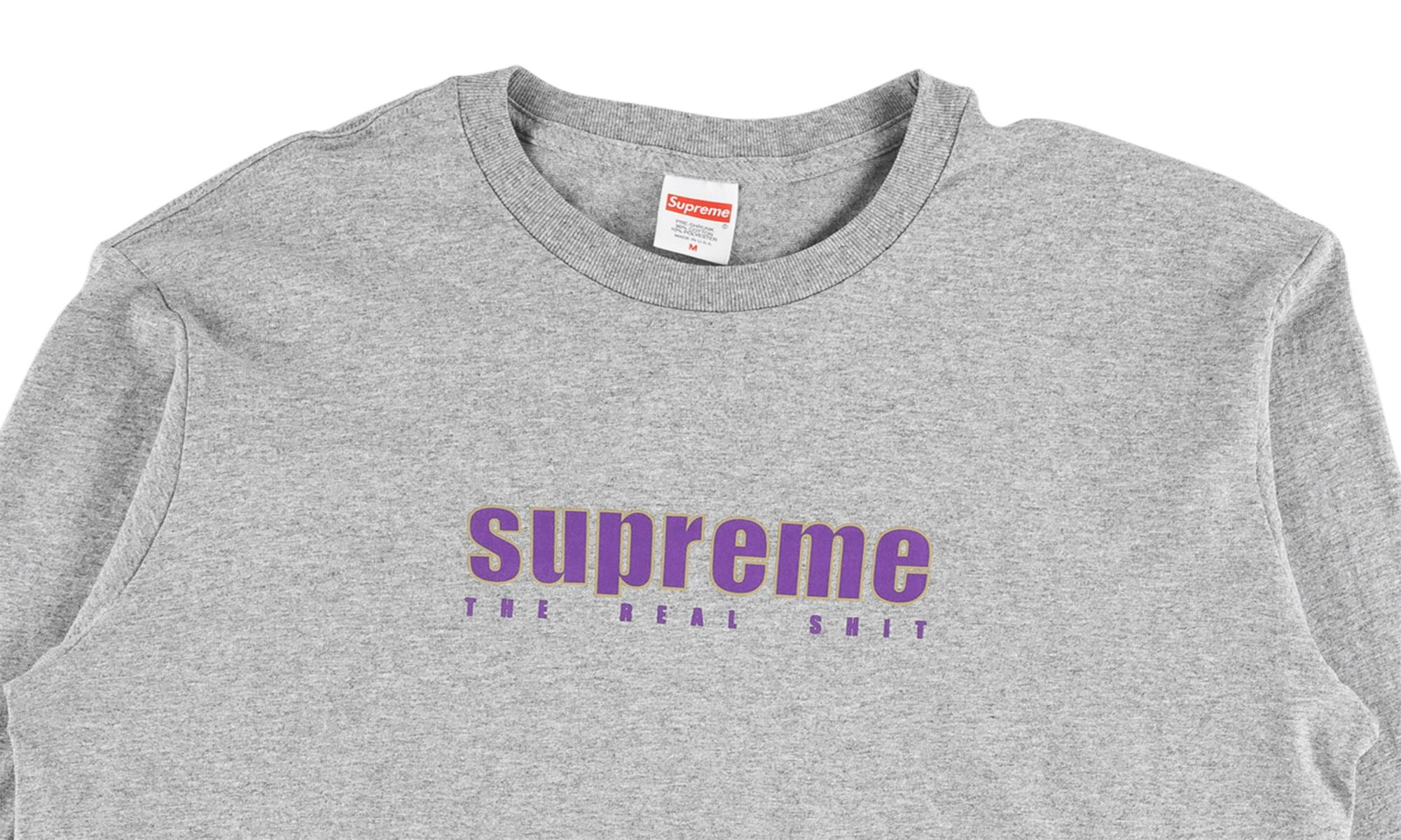 37e0a4678a48 Lyst - Supreme The Real Shit L s Tee in Gray