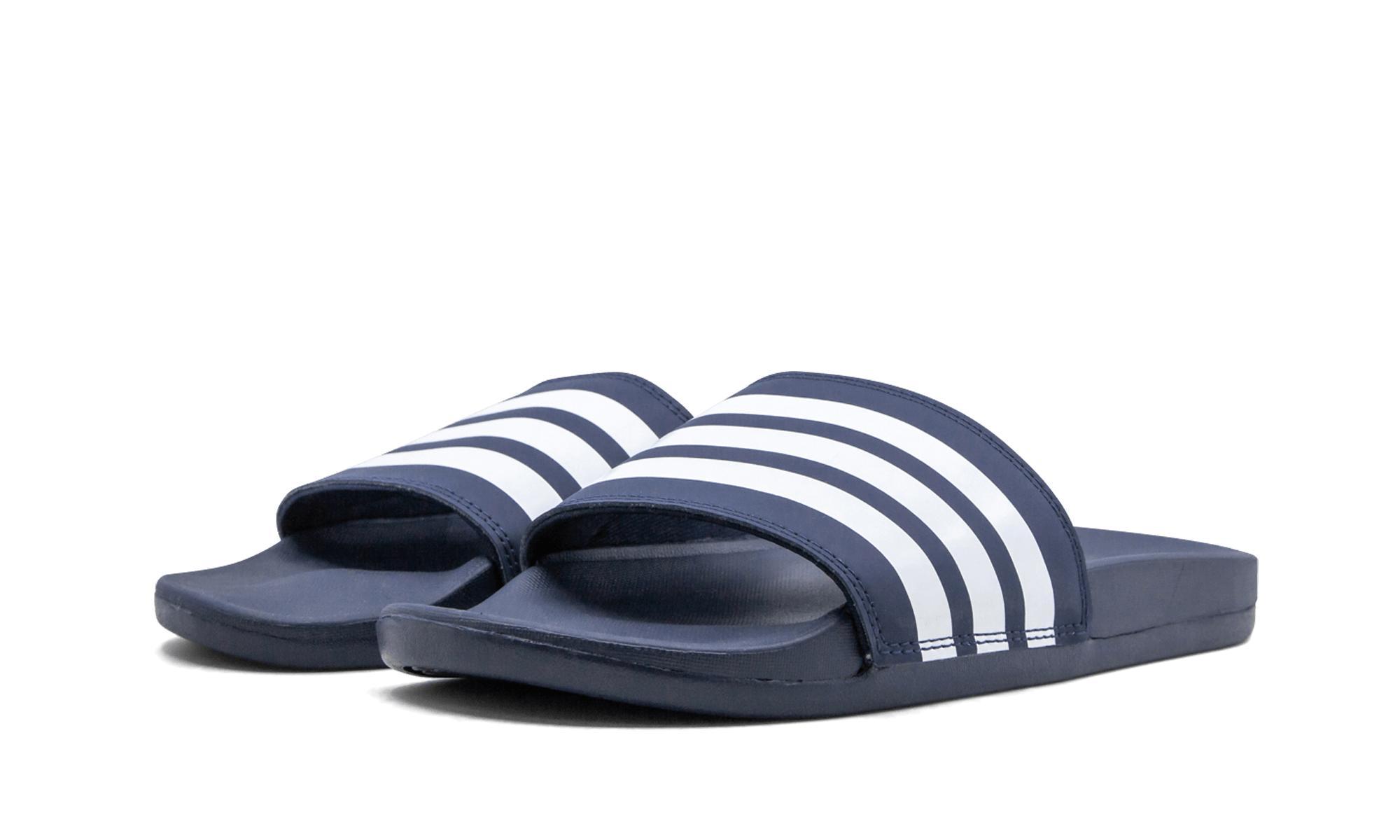 a4017f5d41b Lyst - adidas Adilette Cf+ Stripes W Fam in Blue for Men
