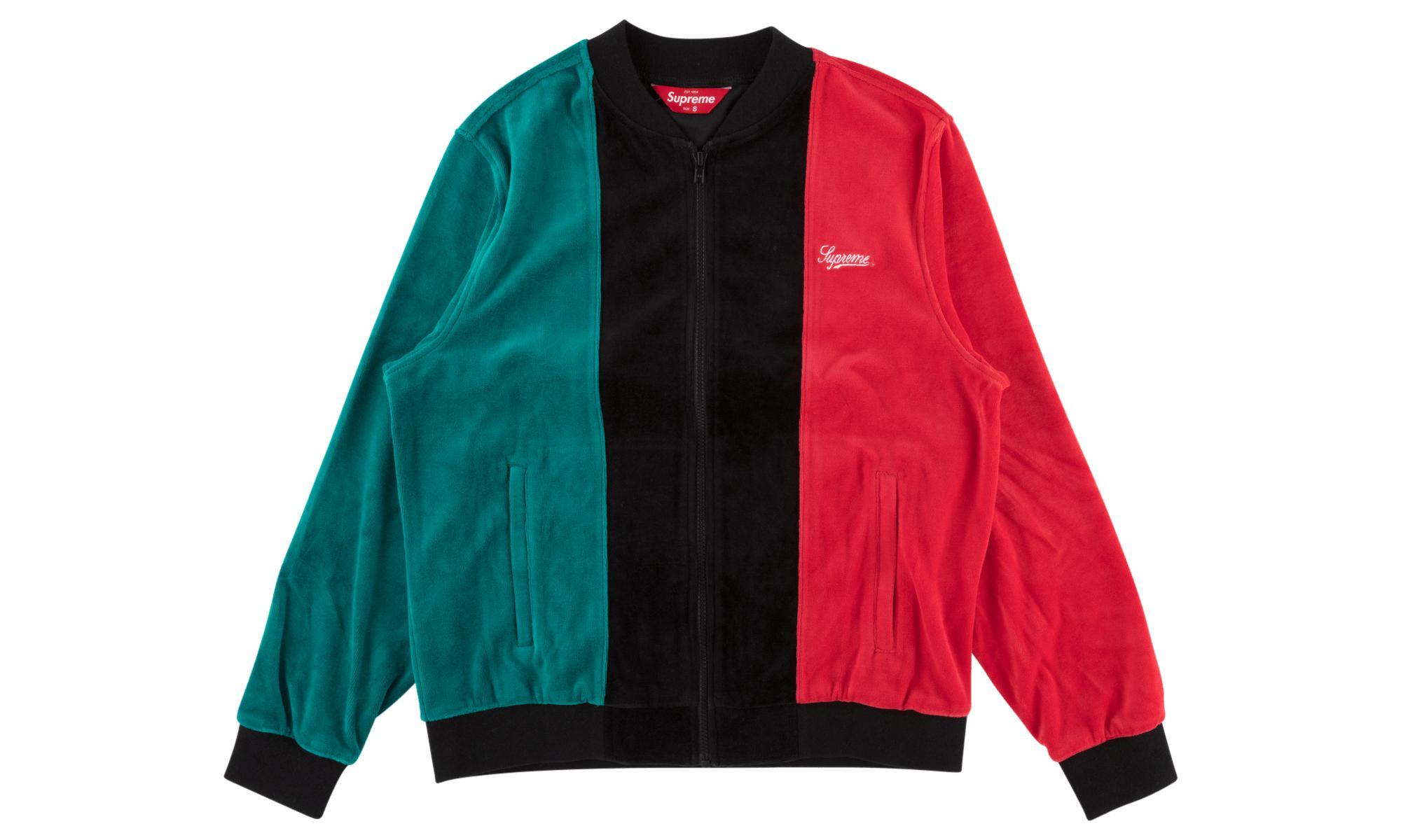 c08fdde55446 Lyst - Supreme Velour Zip Up Sweatshirt in Black for Men