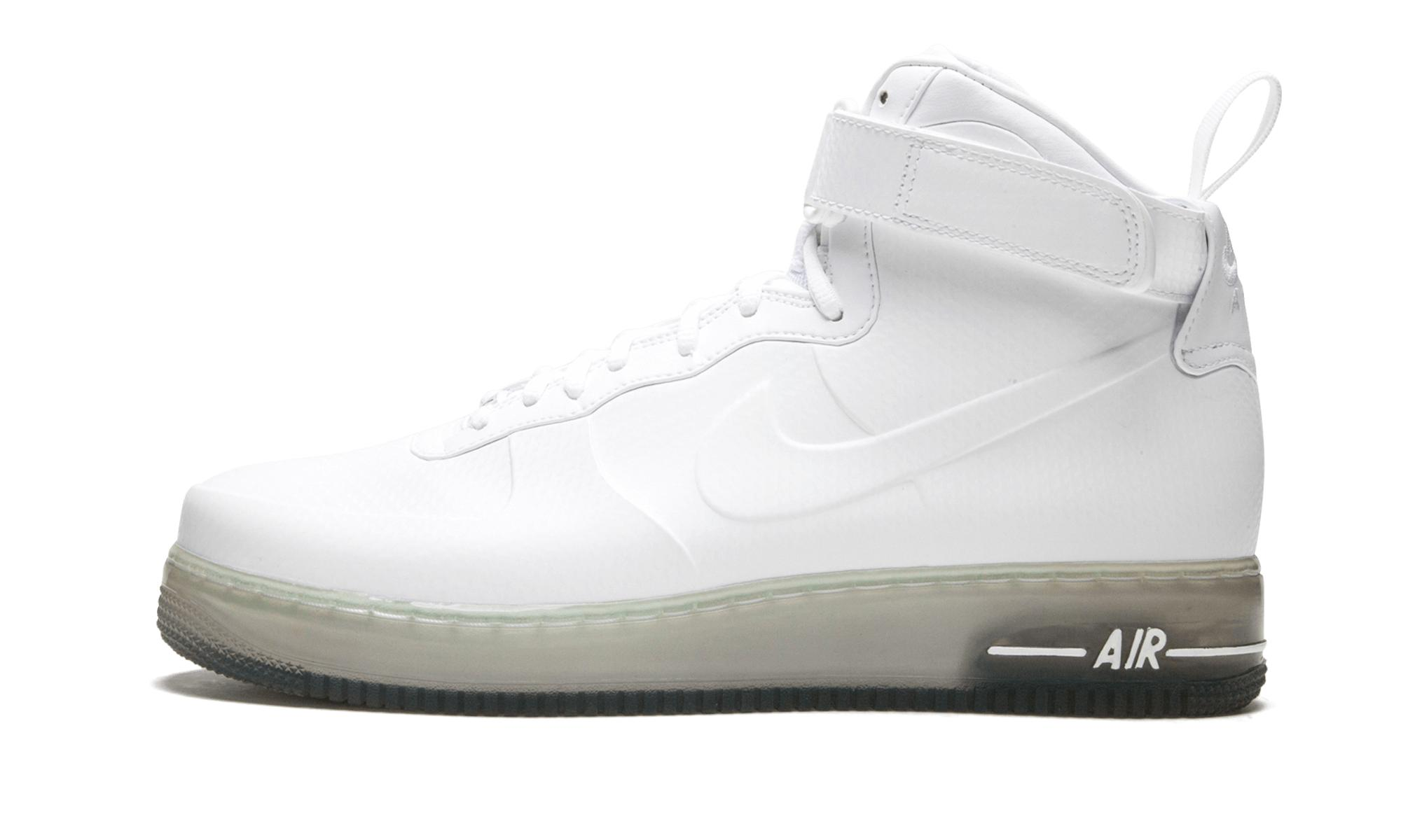 nike air force one foamposite white