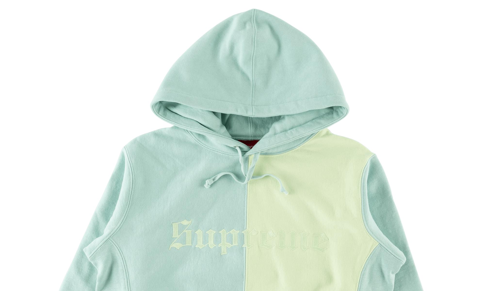7e0d5d43d18c Lyst - Supreme Split Old English Hooded Sweat in Blue