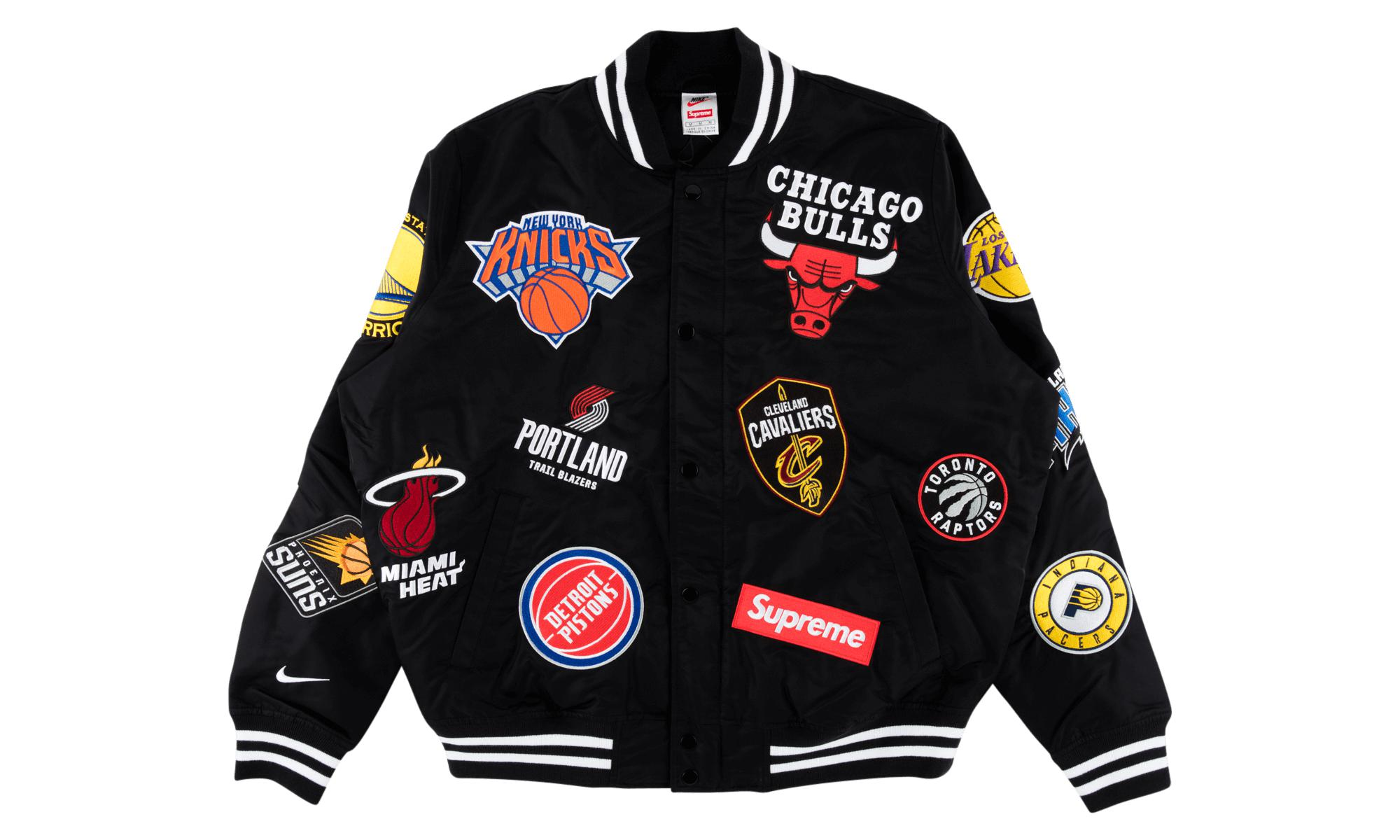 a75abbe43 Supreme - Black Nike nba Teams Jacket for Men - Lyst. View fullscreen