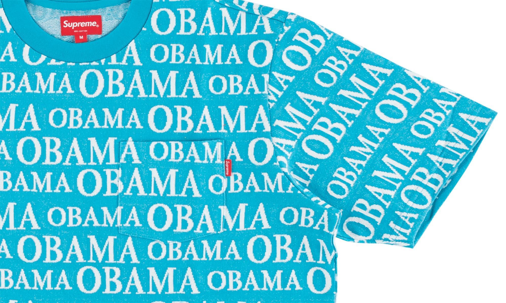 54607c23 Supreme - Blue Obama Jacquard Ss Top for Men - Lyst. View fullscreen