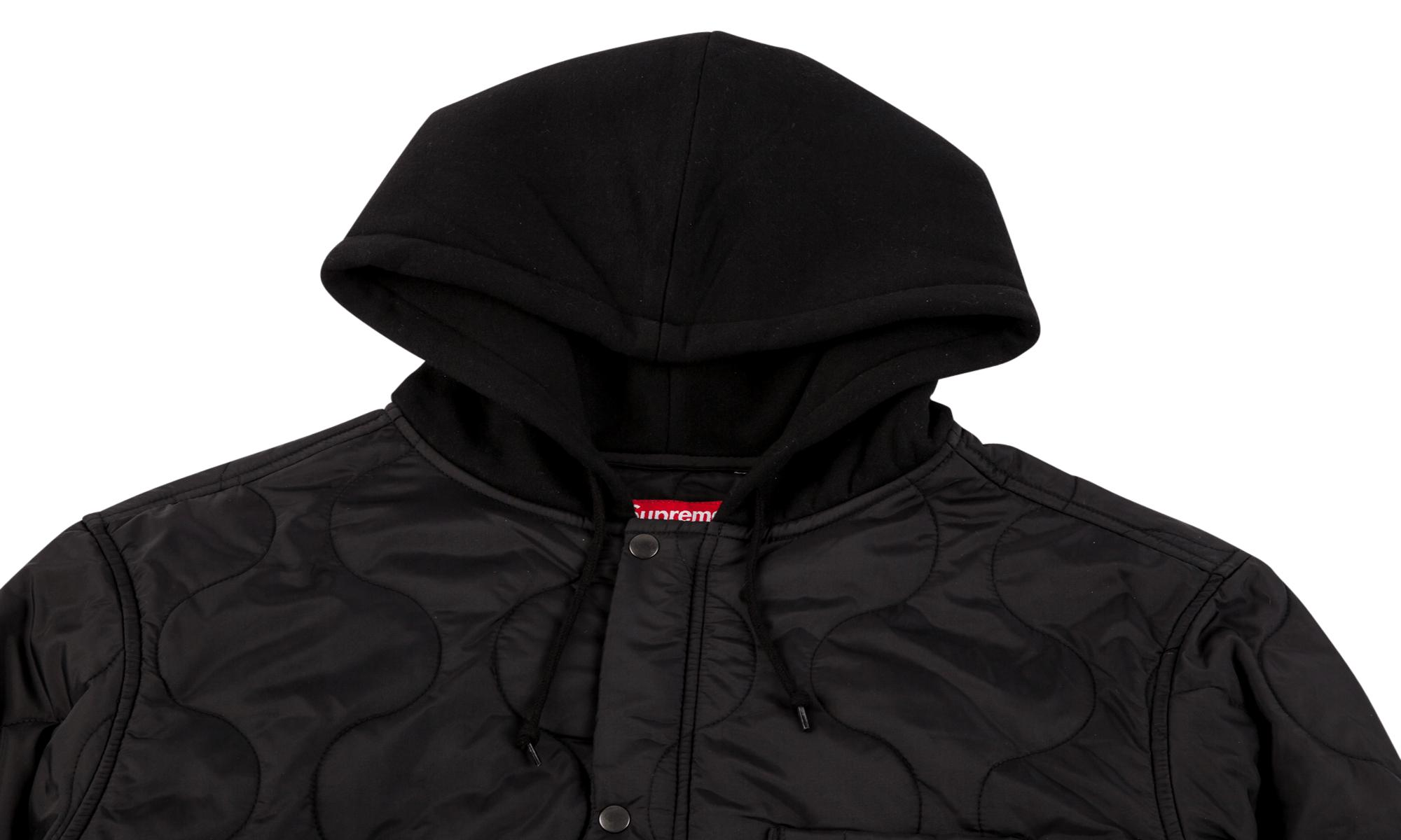5c5167c848d5 Supreme Quilted Liner Hooded Jacket In Black For Men Lyst