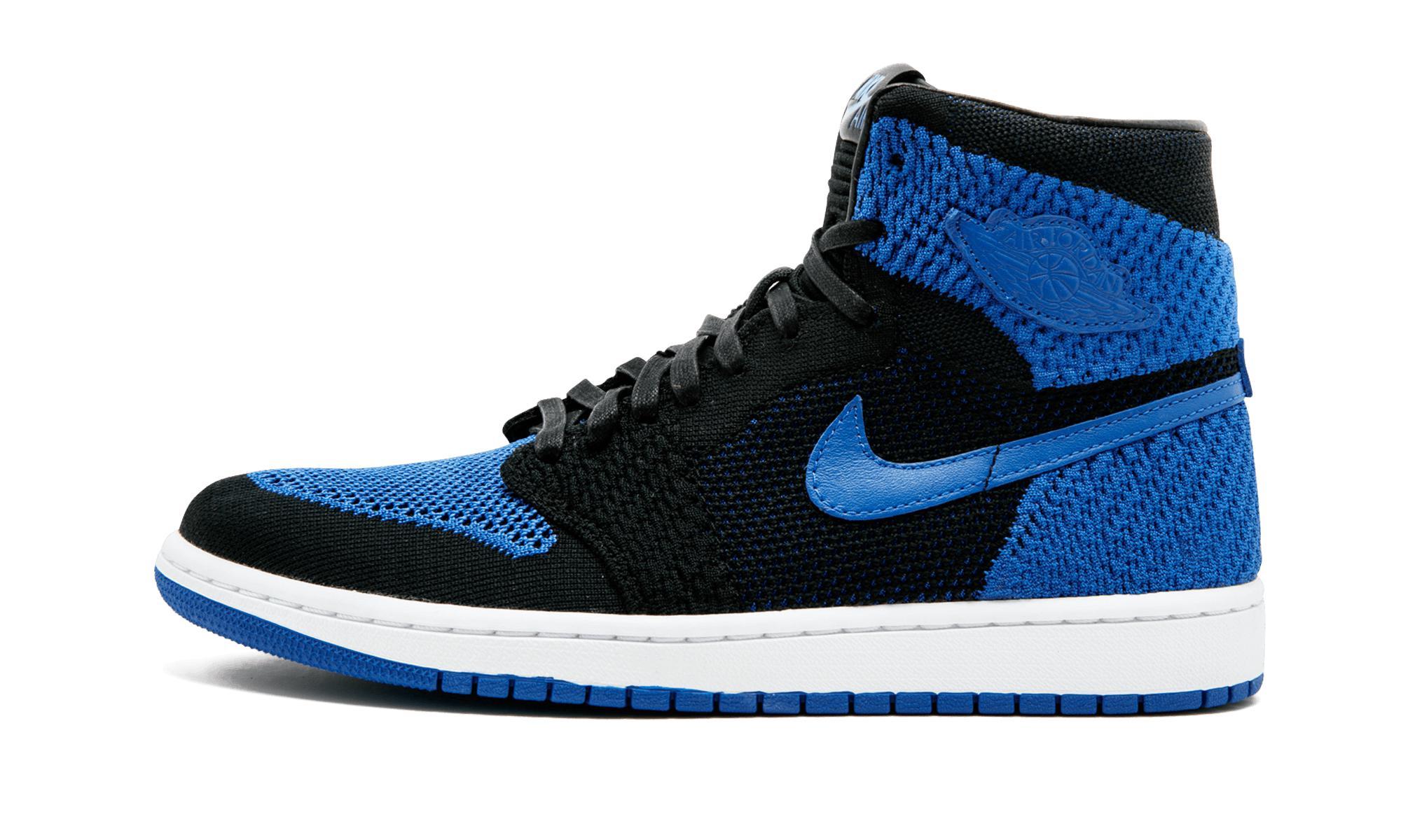 detailed look 763df 6667a Lyst - Nike Air Jordan 1 Retro Hi Flyknit Basketball Shoes in Blue ...