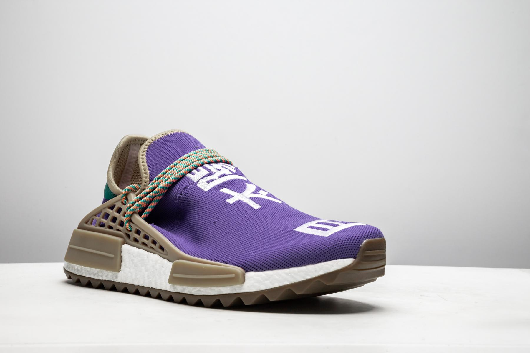 watch 0305a b7265 Men's Purple Pw Human Race Nmd Tr 'respira Friends & Family 2017' - Size 4
