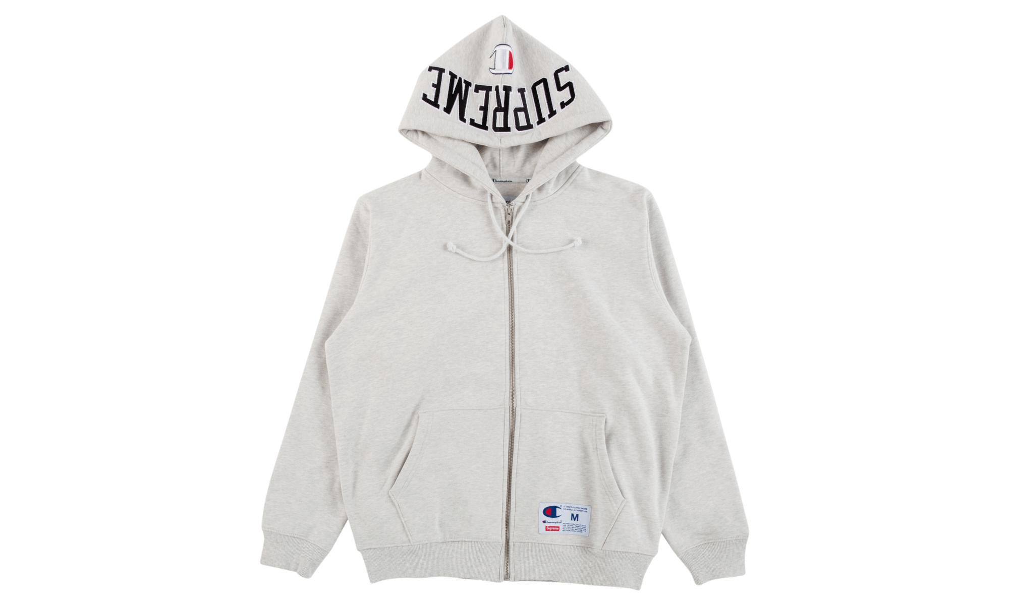 6714d2ee0d3e Supreme Champion Arc Logo Zip Up in Gray for Men - Lyst