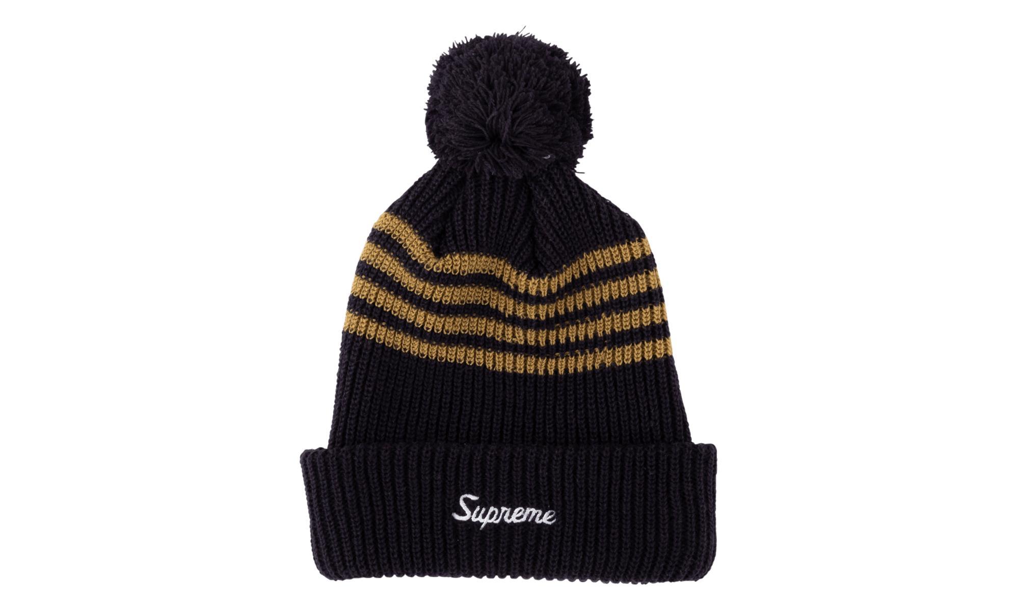 dd7b4efd94e Supreme - Black 4-stripe Loose Gauge Beanie for Men - Lyst. View fullscreen