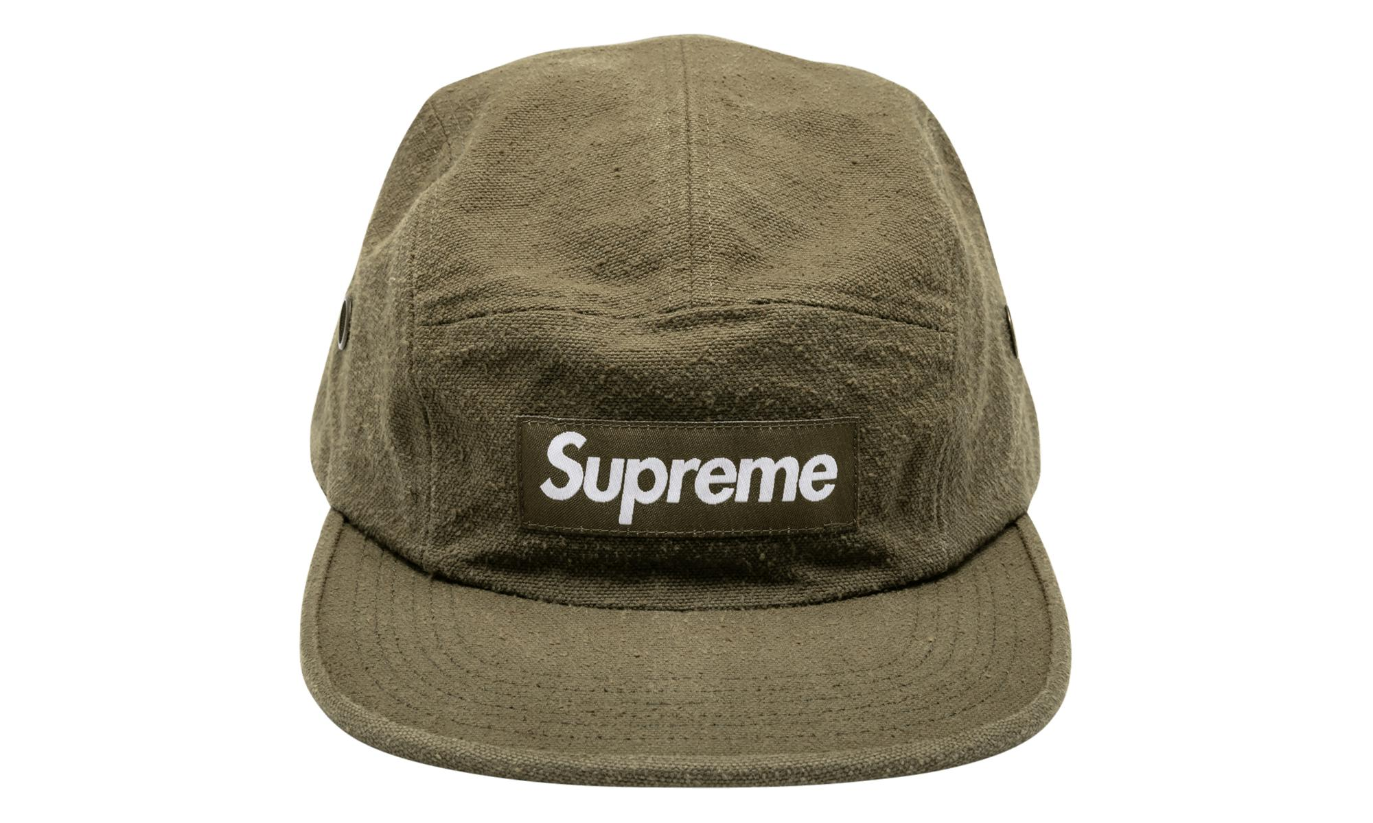 b2cc039a43f Lyst - Supreme Napped Canvas Camp Cap in Green for Men - Save 11%