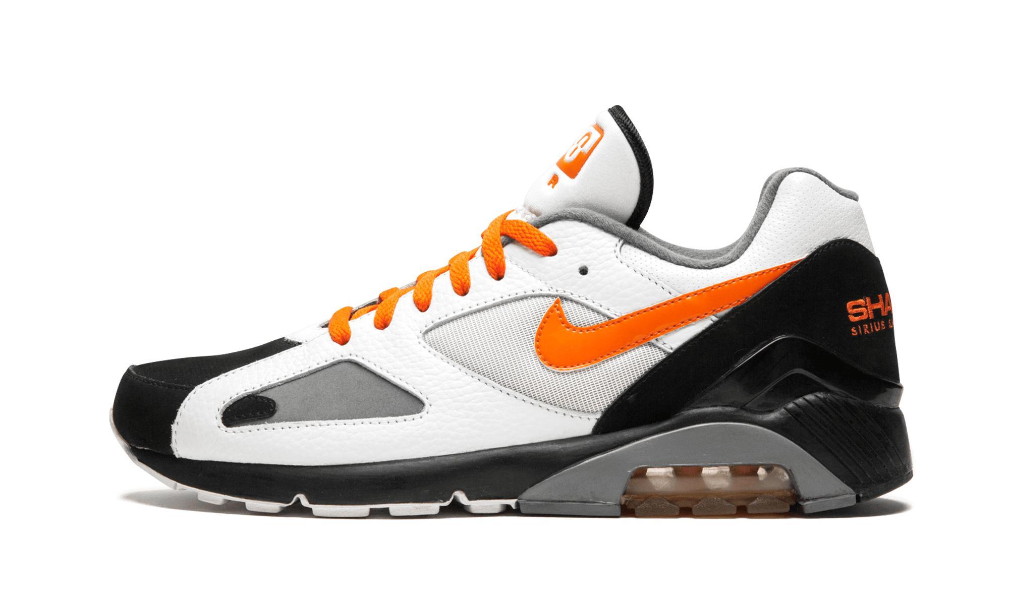 Nike Leather Air Max '180 in Black,Orange,White (Orange) for Men ...