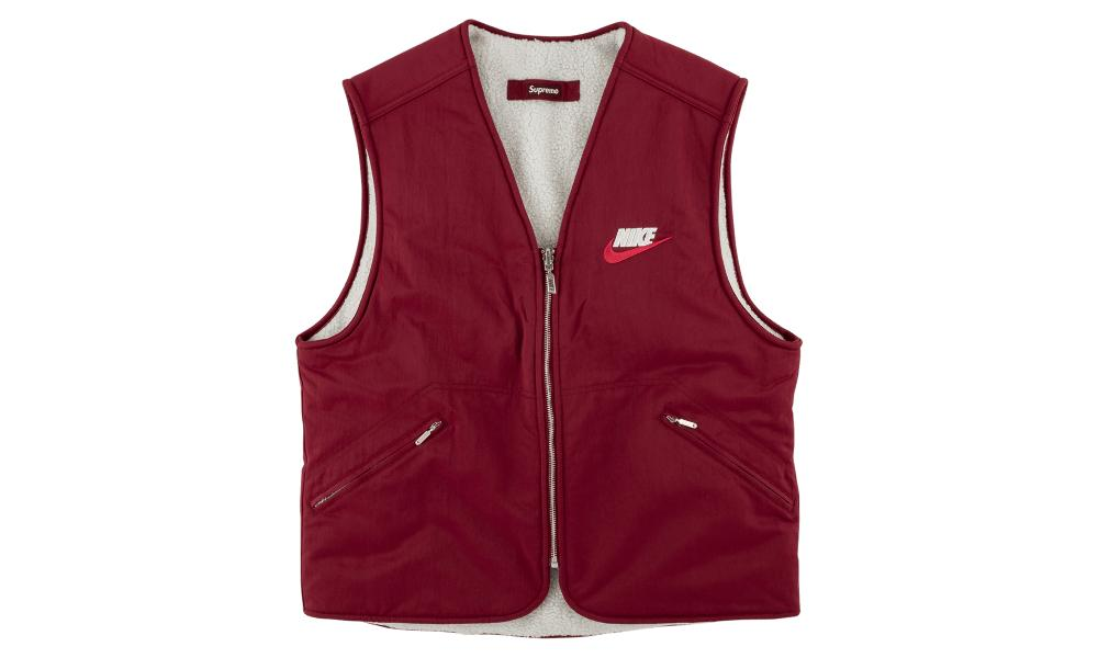 9392a66e Supreme - Red Reversible Nylon Sherpa Vest for Men - Lyst. View fullscreen