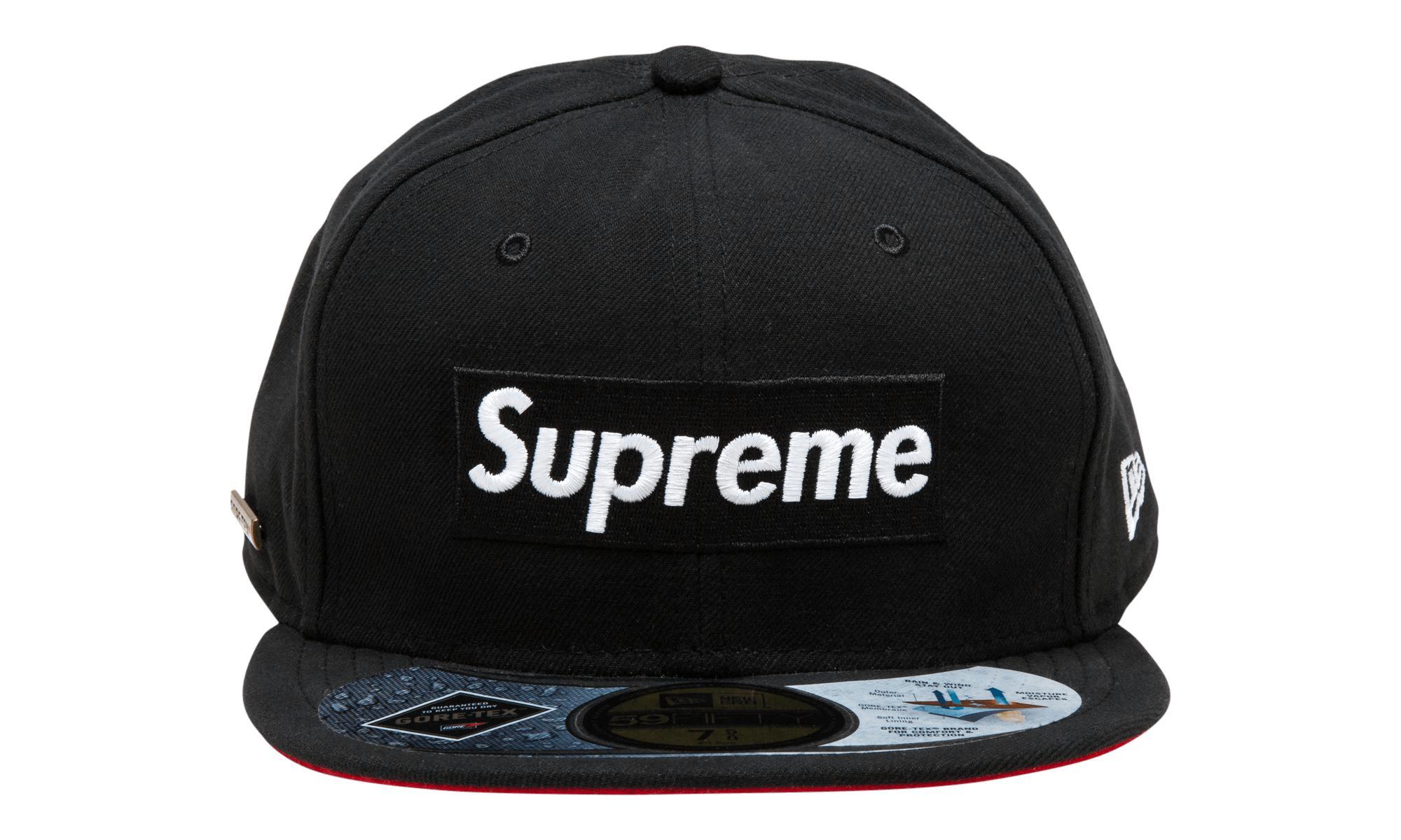 191e434f8 Supreme Black Gore-tex New Era Fitted Cap for men