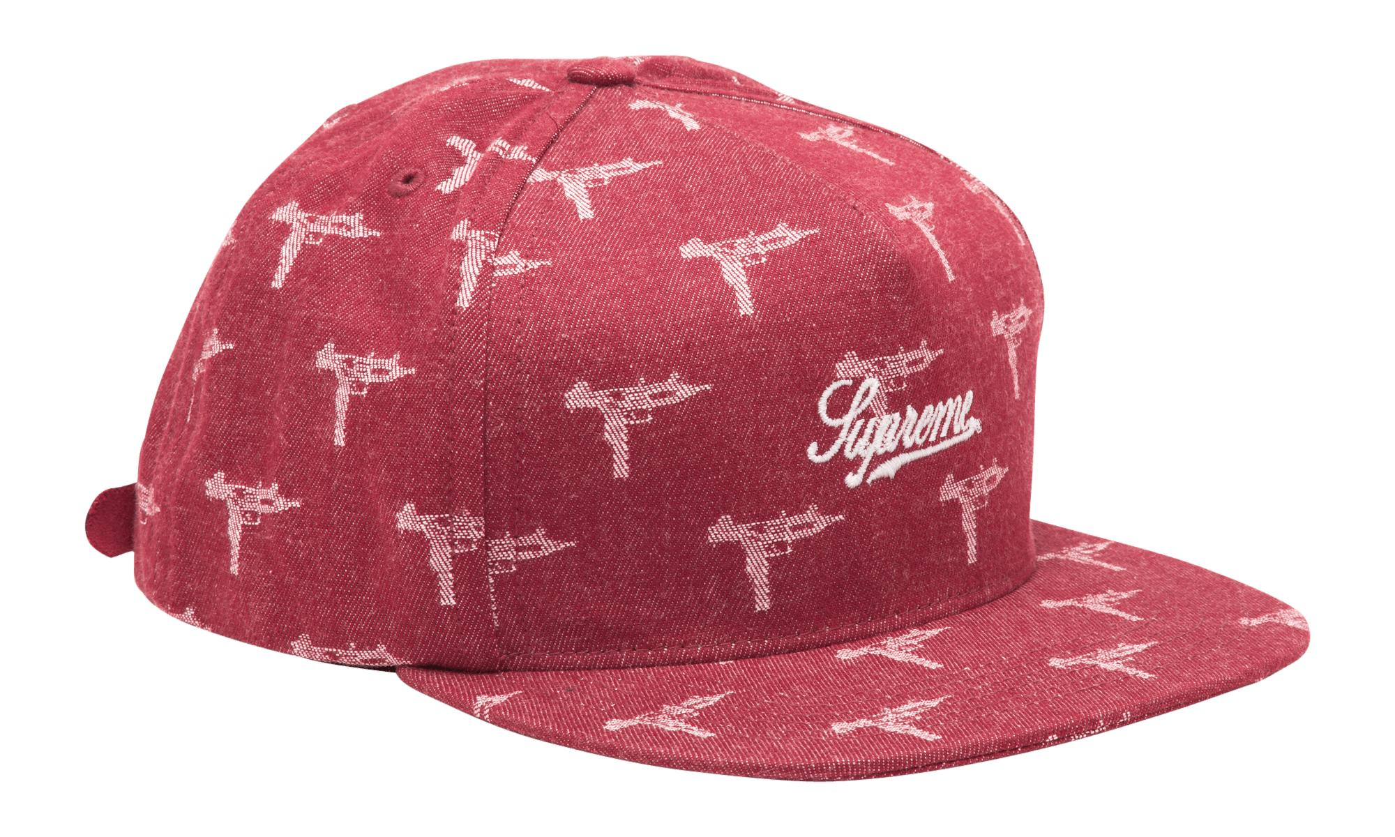 1db59a6a Supreme - Red Denim Jacquard Uzi 5-panel for Men - Lyst. View fullscreen