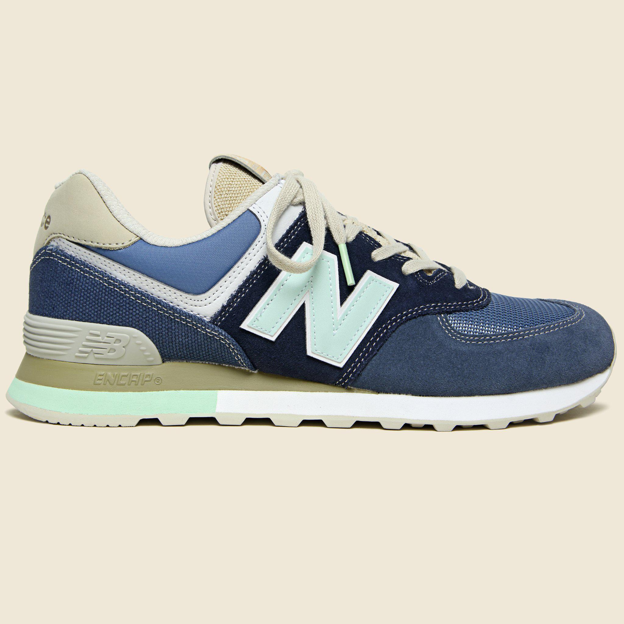 New Balance Blue Retro Surf 574 Sneaker Navyindigo for men