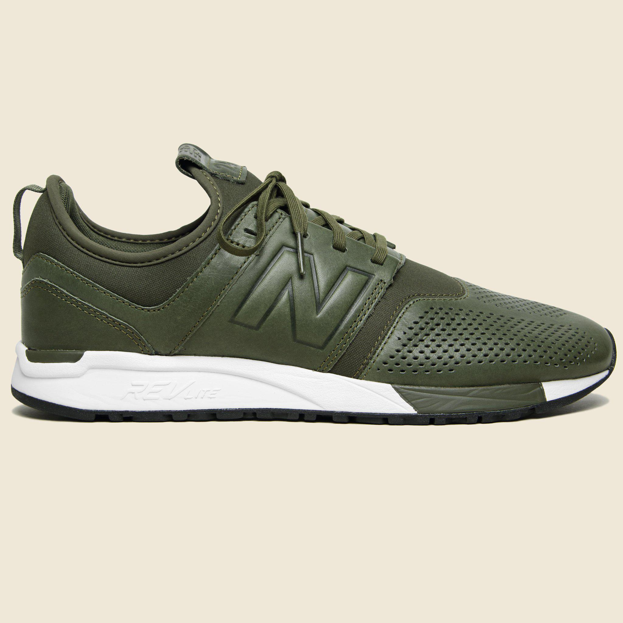 247 Leather Sneaker - Olive